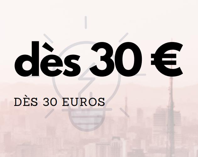 dès 30 euros